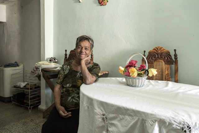 Woman in her house-Trinidad-Cuba
