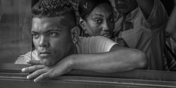 Man on Bus | Havana, Cuba | Steve Anchell Photography Workshop and Tour